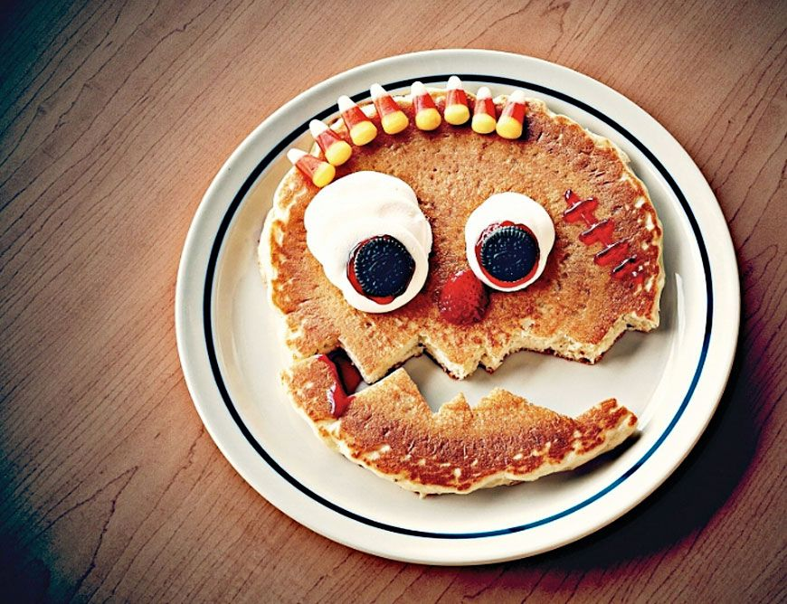 Kids get Free scary face pancakes at IHOP today til