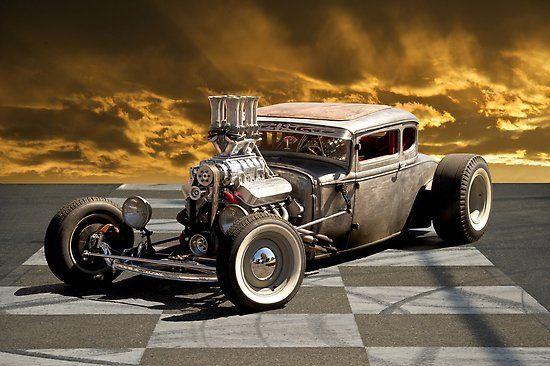 Poster 'Rat Rod Coupe lll' par DaveKoontz