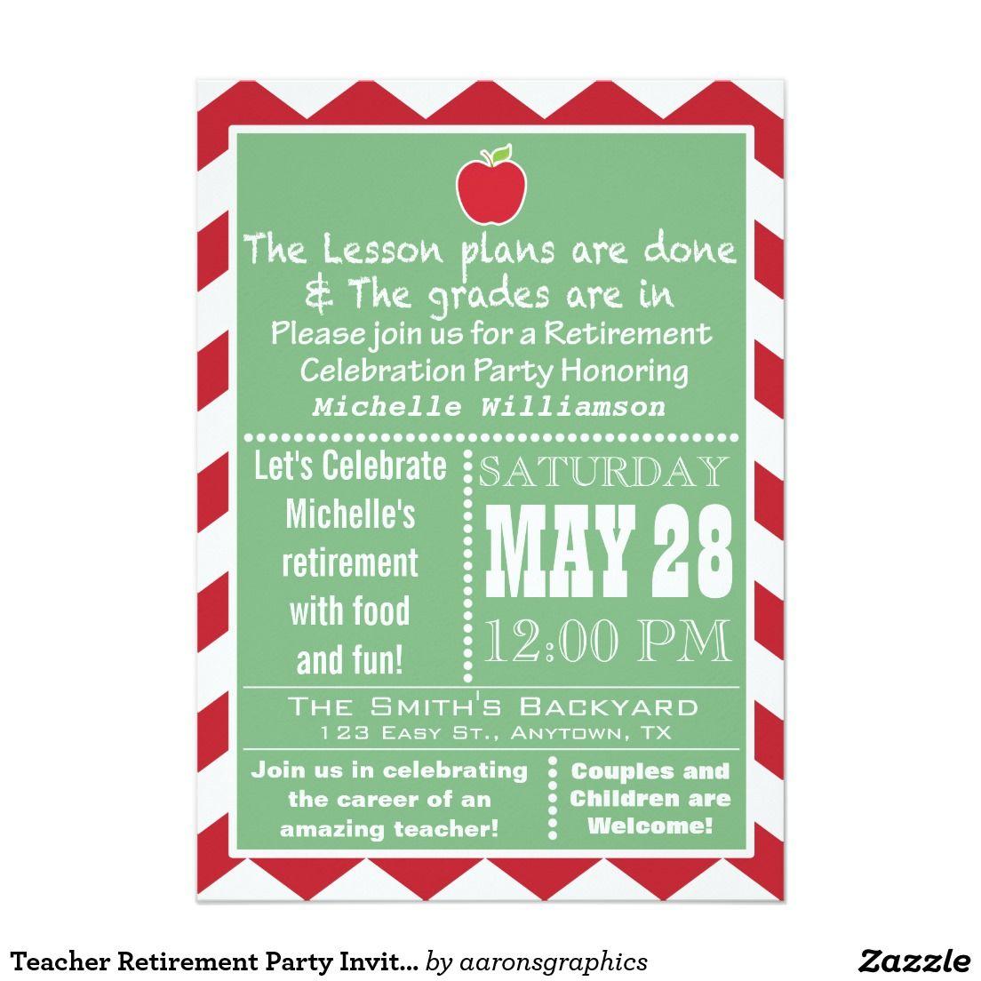 teacher retirement party invitation bernie retirement pinterest