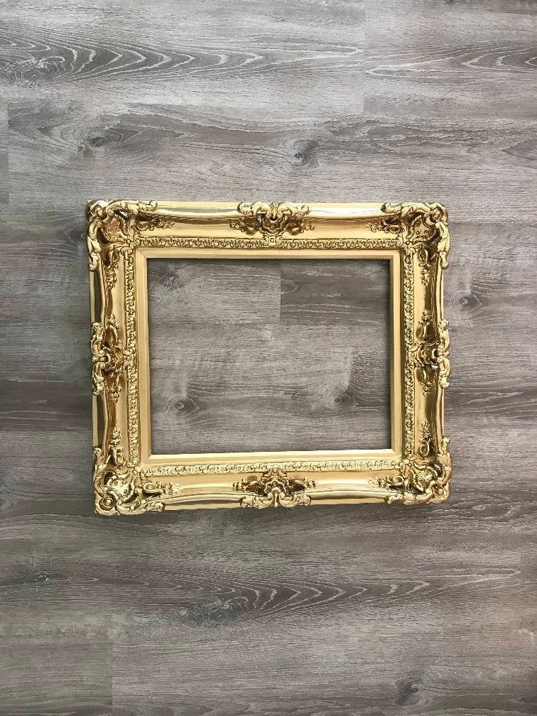 16x20 Shabby Chic Gold Frame Decorative Baroque Mirror Medium Pictures Frames Weddings Gift Canvas Frames In 2020 Ornate Picture Frames Wedding Frames Baroque Mirror