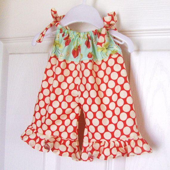 Doll Romper - Summer time strawberries