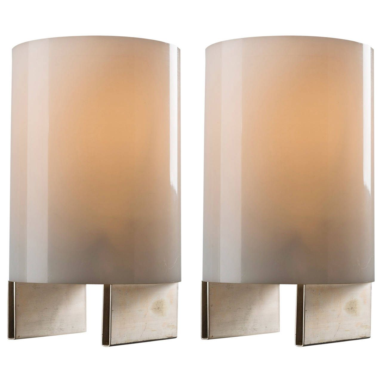 Set Of Two Table Lamps By Lino Sabattini