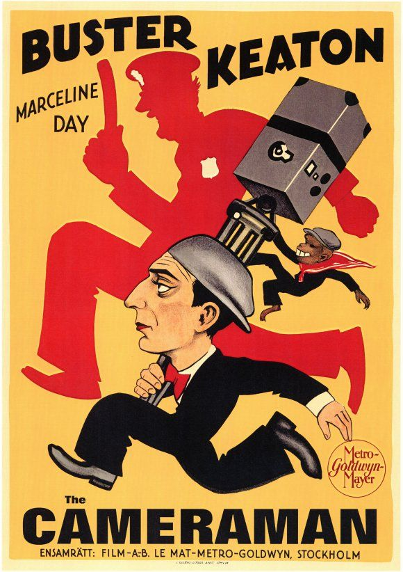 Buster Keaton, The Cameraman Movie Posters - Lobby Cards - poster für die küche