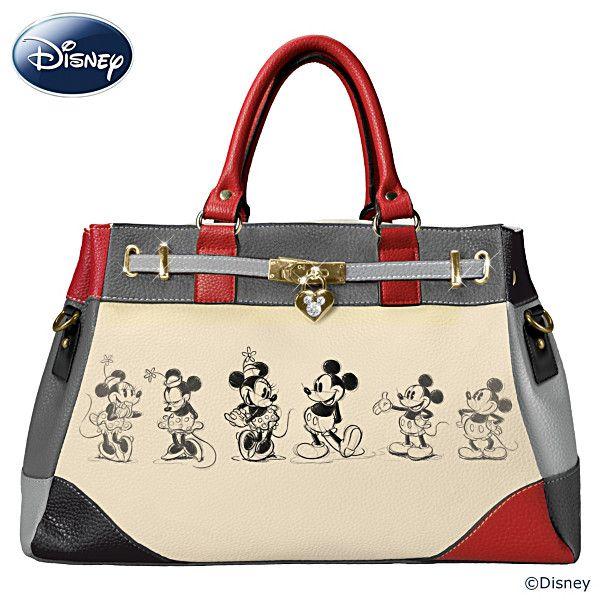 baac709a69c Disney Mickey And Minnie Love Story Handbag Billeteras