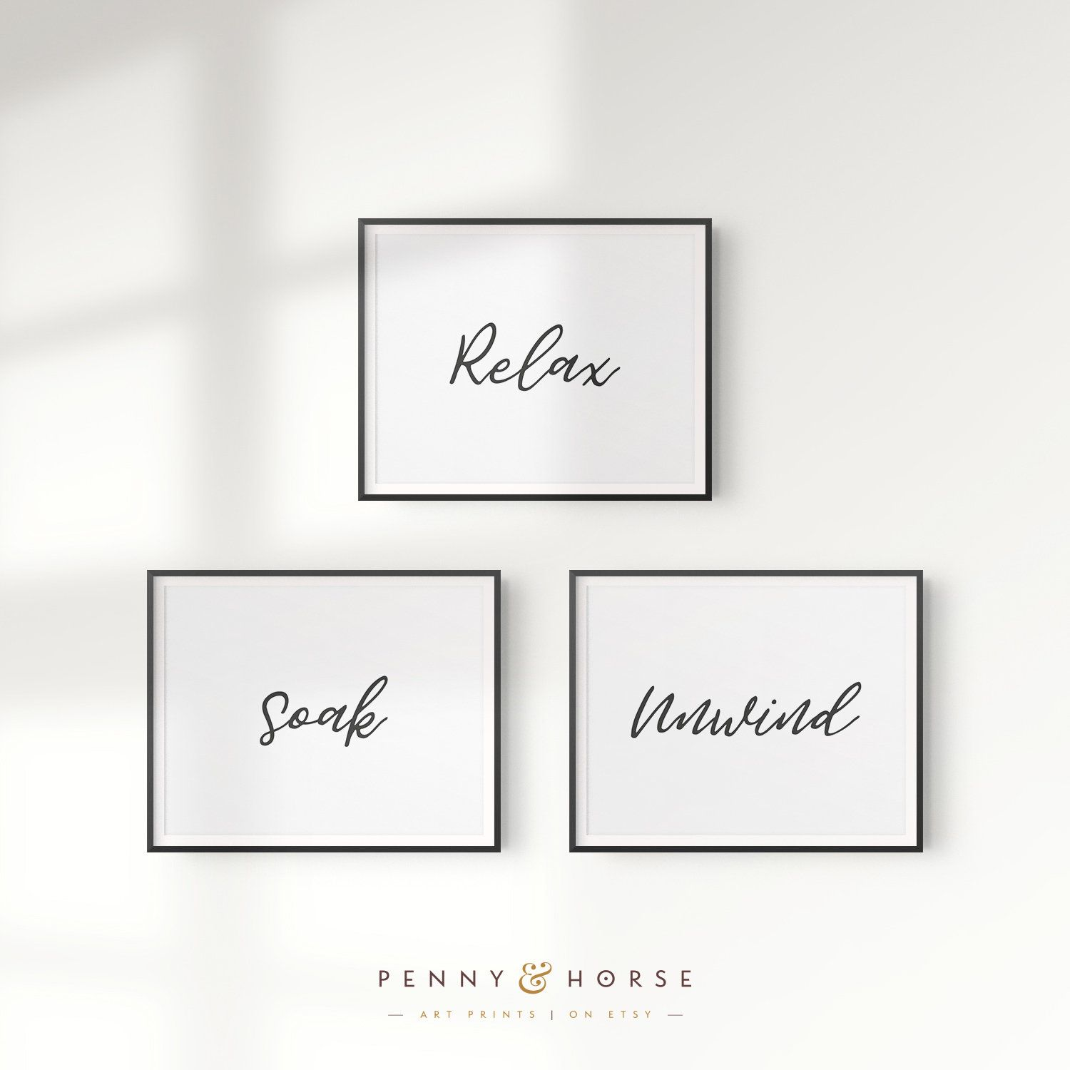Printable Bathroom Signs Relax Soak Unwind Bathroom Art Prints