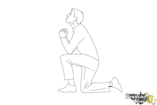 How To Draw A Person On Their Knees Kneeling Drawingnow Person Drawing Posture Drawing Person On Their Knees Drawing