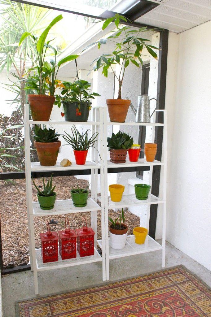 Amazing Outdoor Plant Shelves