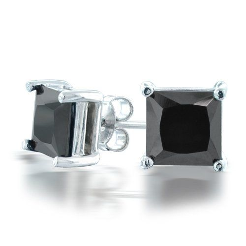 Indulge In A Glamorous Style When You Wear Our Uni Mens Cz Basket Set Princess Cut Black Stud Earrings These Pair Of Beautiful Yet Inexpensive