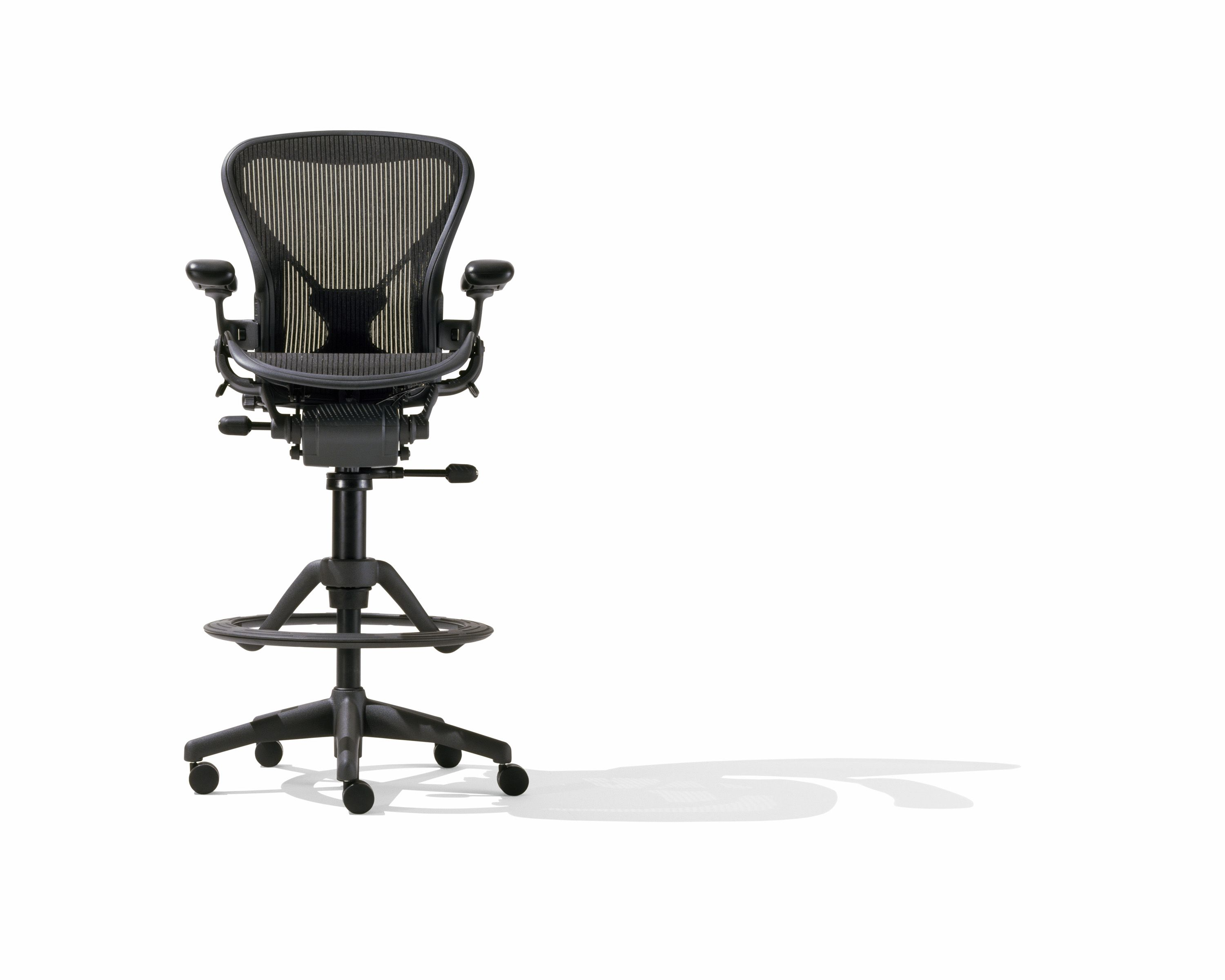 Aeron stool for when I want to sit for a minute instead of