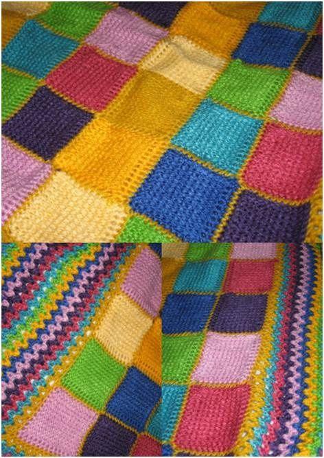 Manta de ganchillo tunecino mantas pinterest - Mantas de ganchillo para sofas ...