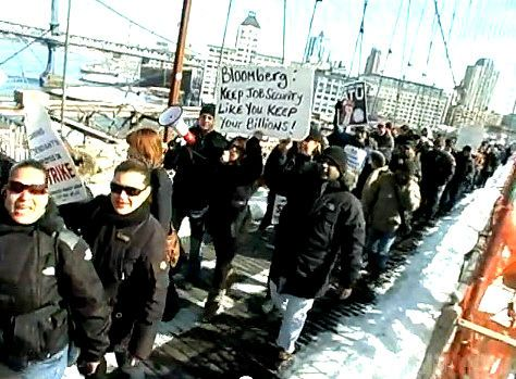 Thousands March In Support Of New York Bus Drivers Video Bus Driver School Bus Driver Supportive