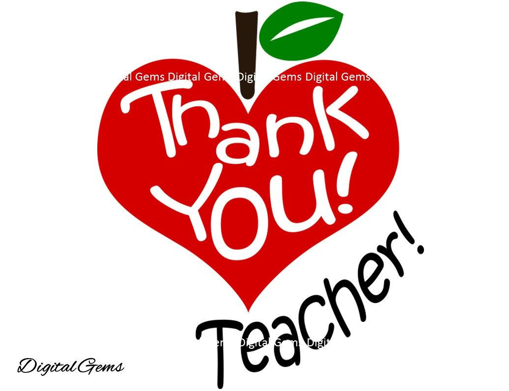 Thank You Teacher Svg Dxf Eps Png Files Digital Download Compatible With Cricut And Silhouette Machines Small Commercial Use Ok Happy Teachers Day Teacher Your Teacher
