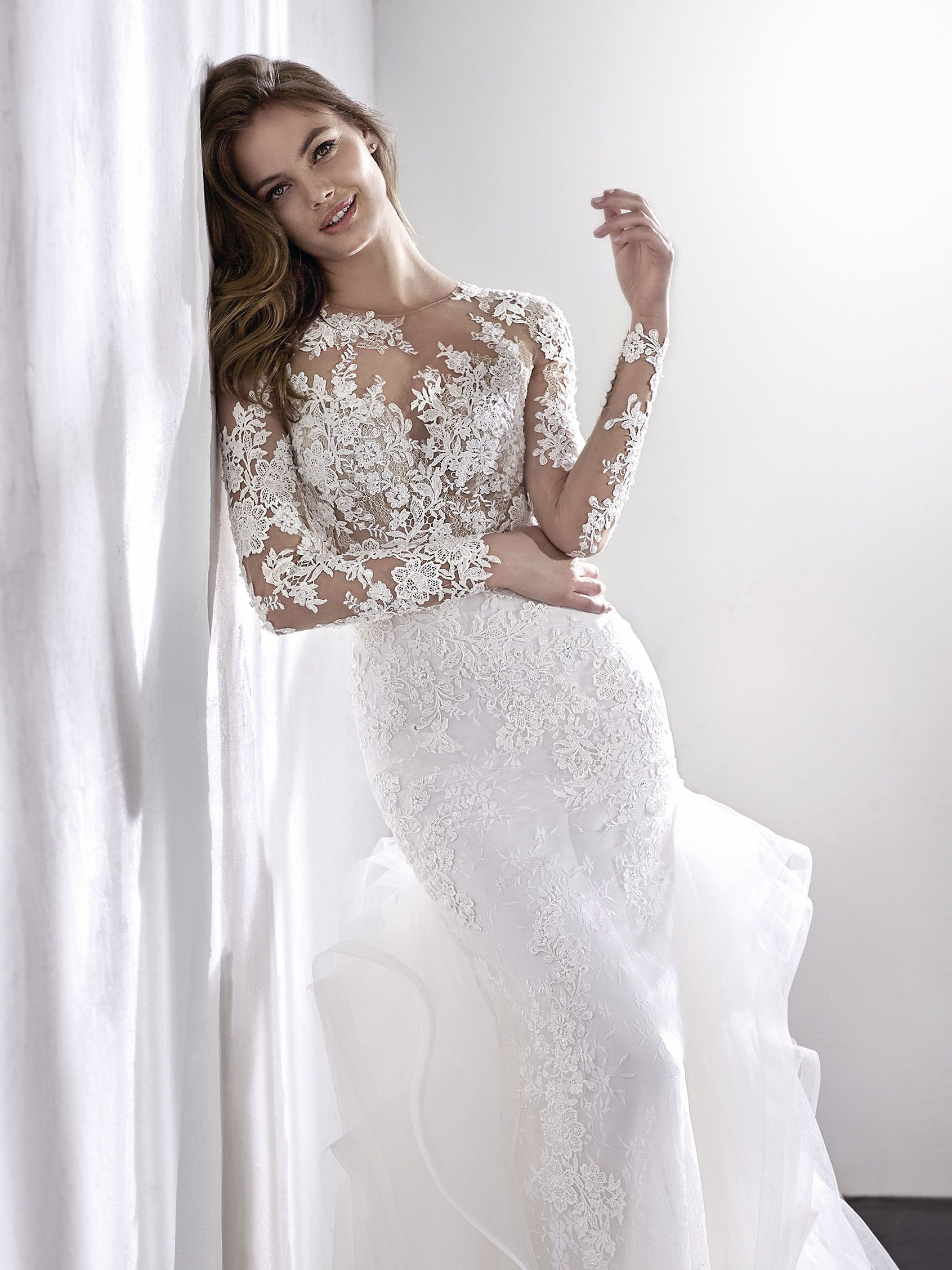 Wedding Dress Illusion Neckline Wedding Dress Accessories Pronovias Wedding Dress Wedding Dresses