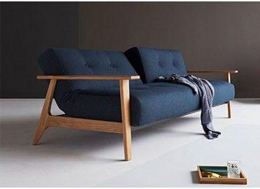 Canape Lit Avec Accoudoirs Bleu Design Scandinave Ample Arms Innovation Living Canape Lit Design Canape Lit Canape Convertible Bleu