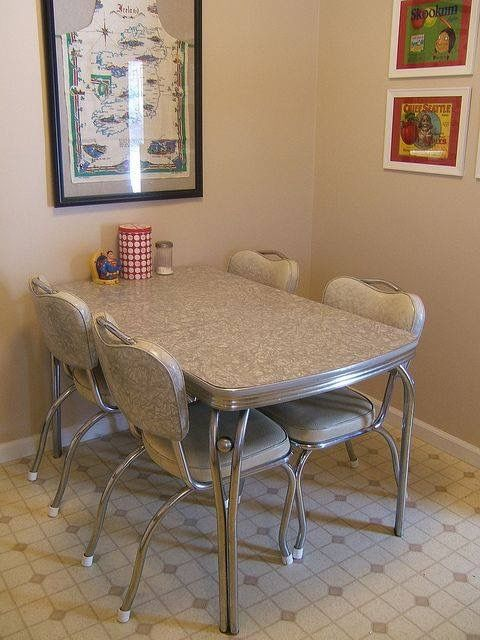 Chrome Dinette ~ Gray Cracked Ice  Omaha Nebraska  Pinterest Amusing Retro Dining Room Tables Design Decoration