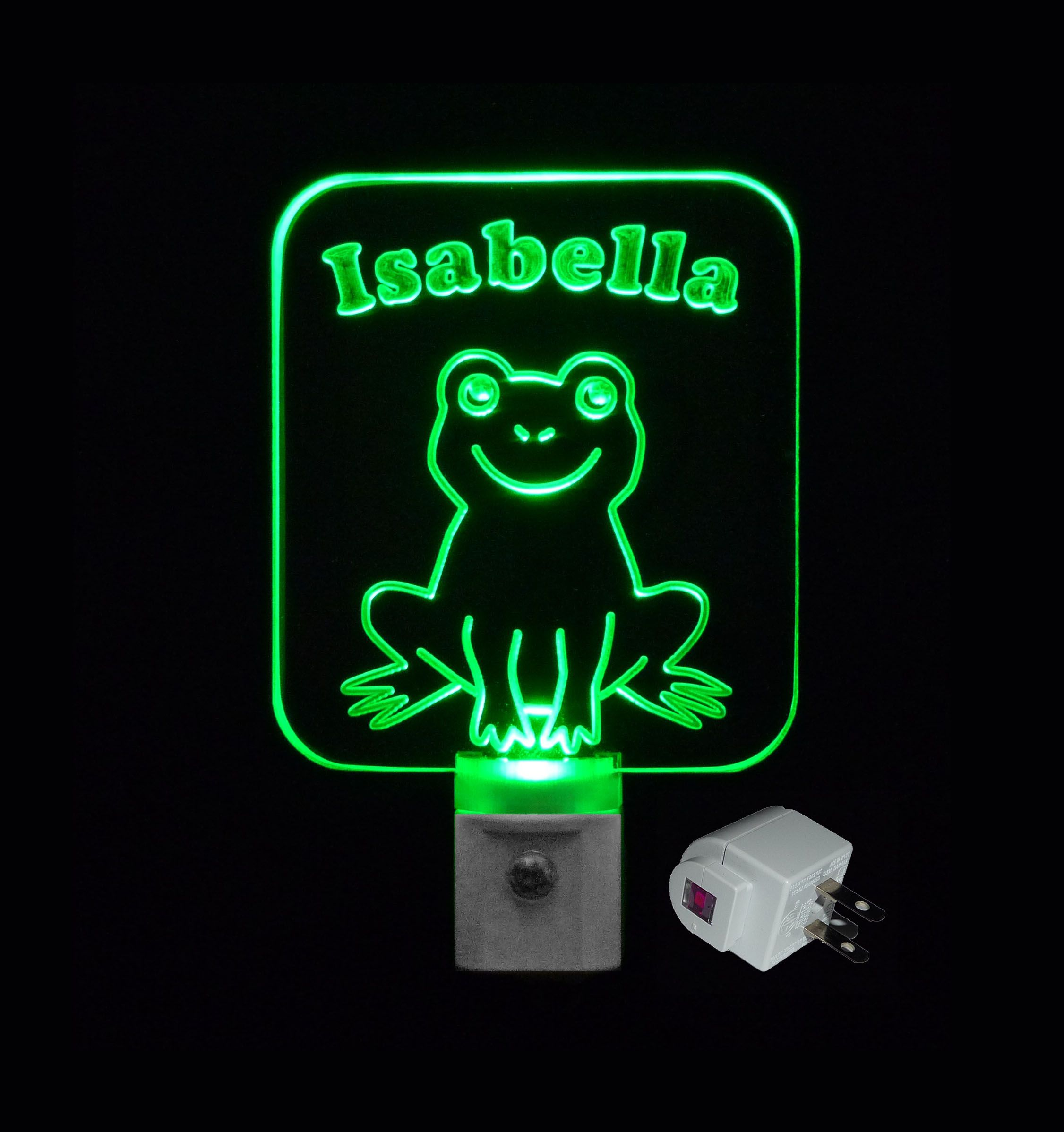 Night lights designs - Personalized Custom Frog Led Night Light Or Design Your Own Light Unique Led