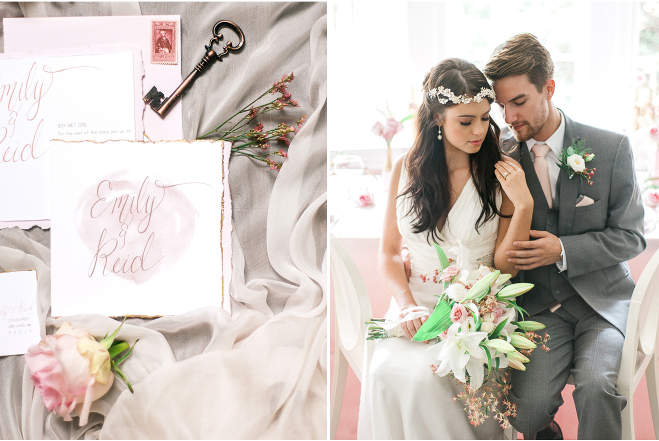 Styled shoot glimmer blush and everything lush hair by paige