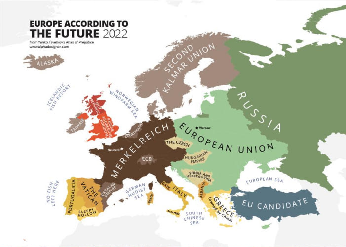 map of europe in future Future map of Europe 2022. | Europe map, Map, Funny maps