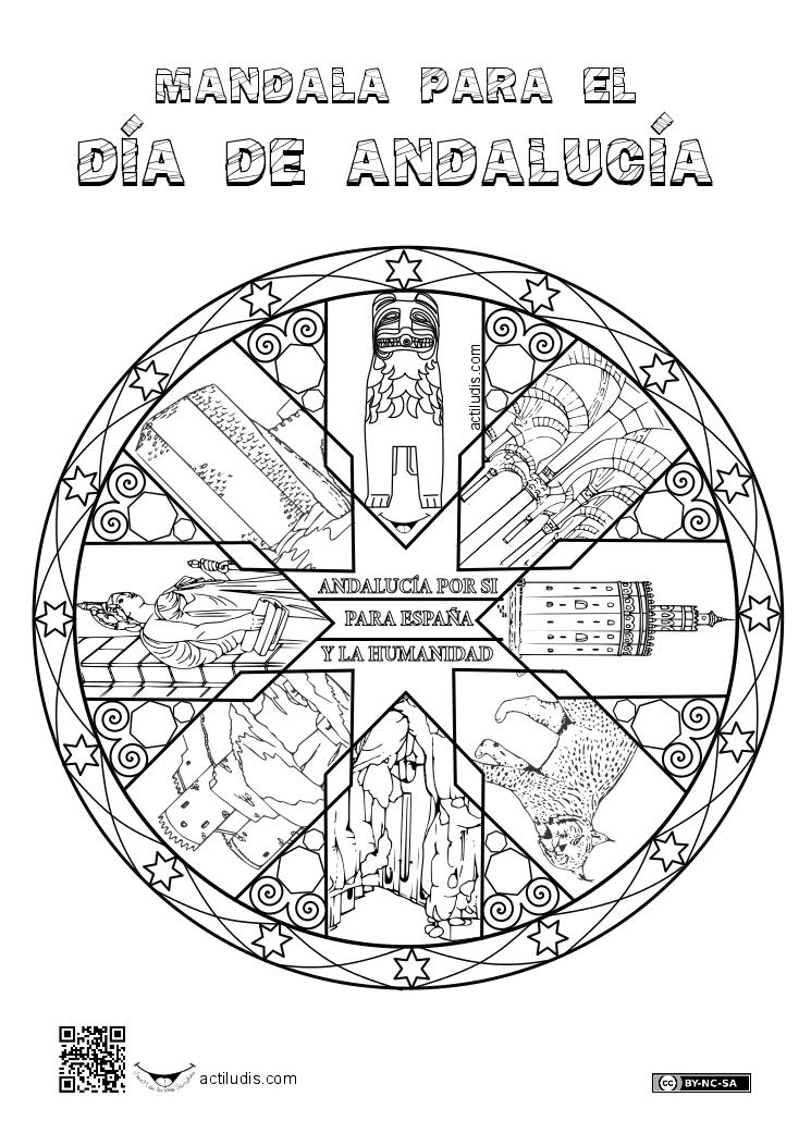 Mandala De Andalucia Actiludis Andalucia Dia De Andalucia Educacion Plastica Y Visual
