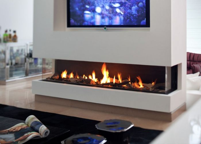 AuBergewohnlich Kamin Design Wohnzimmer Wandgestaltung Modern