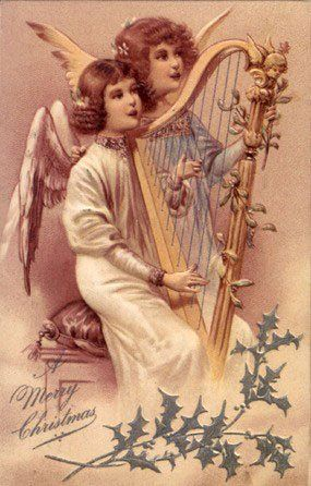 Vintage Angels -  Angels - Vintages Cards -  angel, angels, vintage, xmas, christmas, holidays, free, clipart,