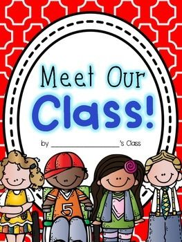 """This little class book is perfect for the beginning of the year!! Create and display at Open House for parents to """"meet the class!""""I included two cover color choices - red and green. :)"""