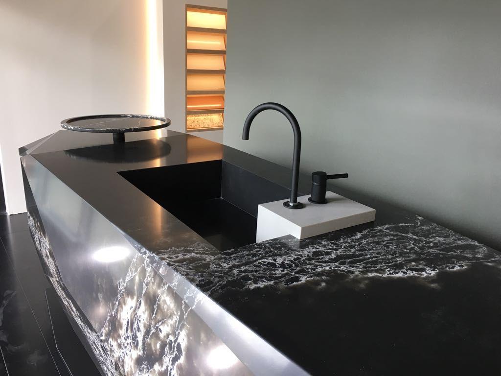 Stone Design Compac Surfaces Genesis Ice Black Quartz