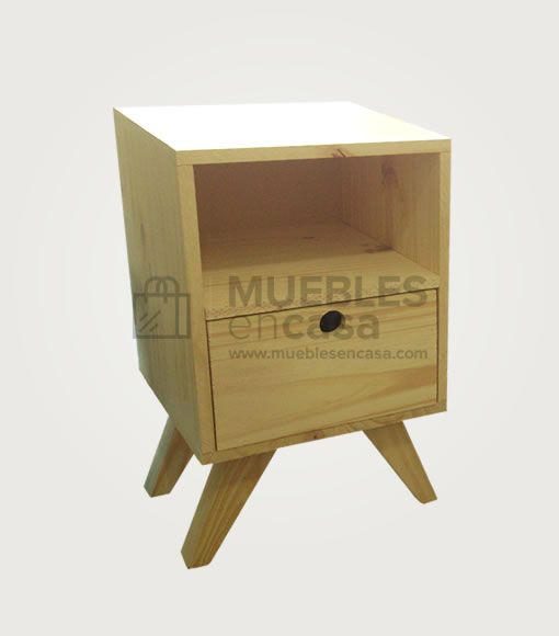 Mesa de luz vintage muebles de pino con env o gratis for Envio de muebles