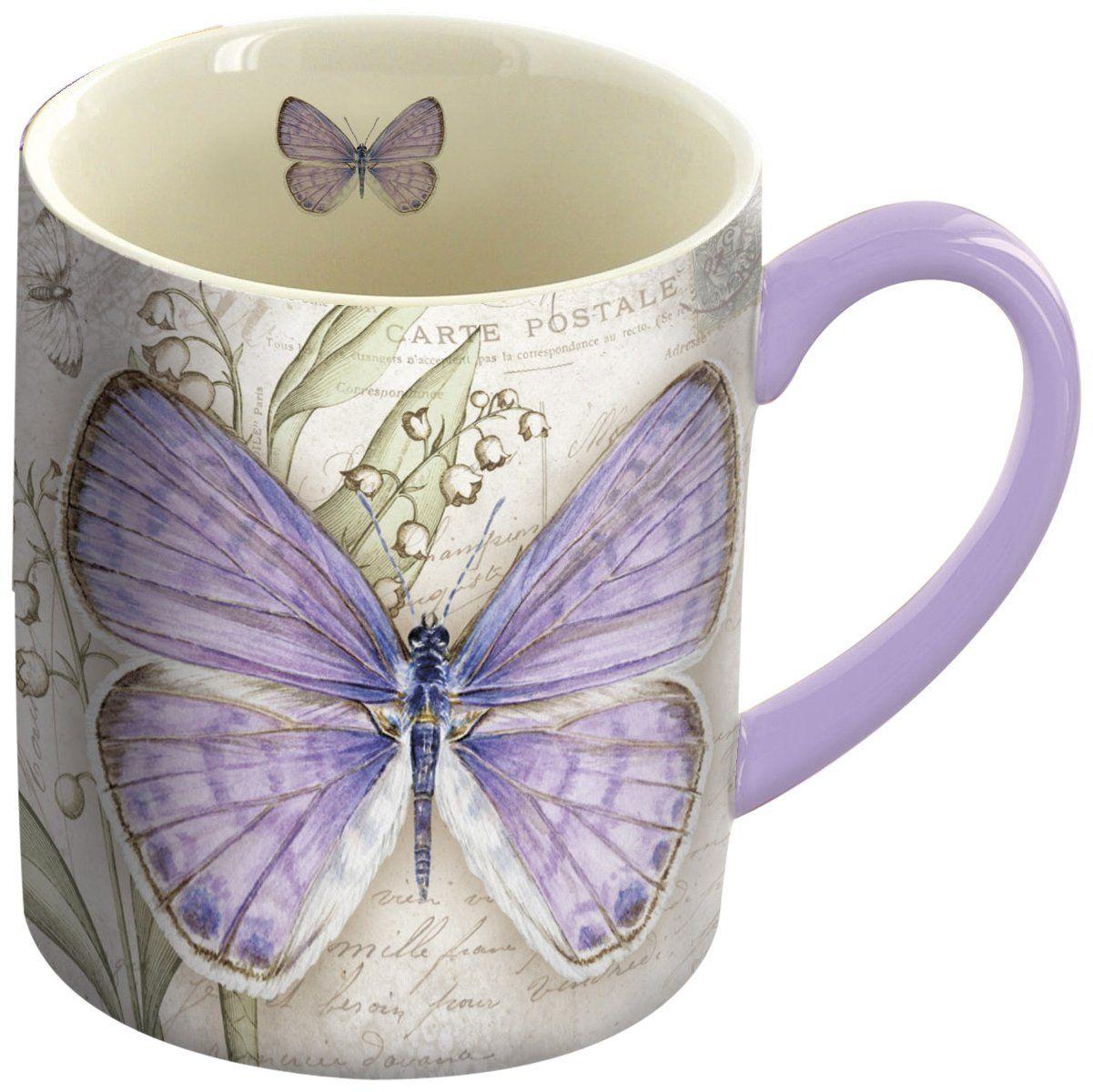 "LANG 14 oz. Ceramic Coffee Mug ""Lavender"