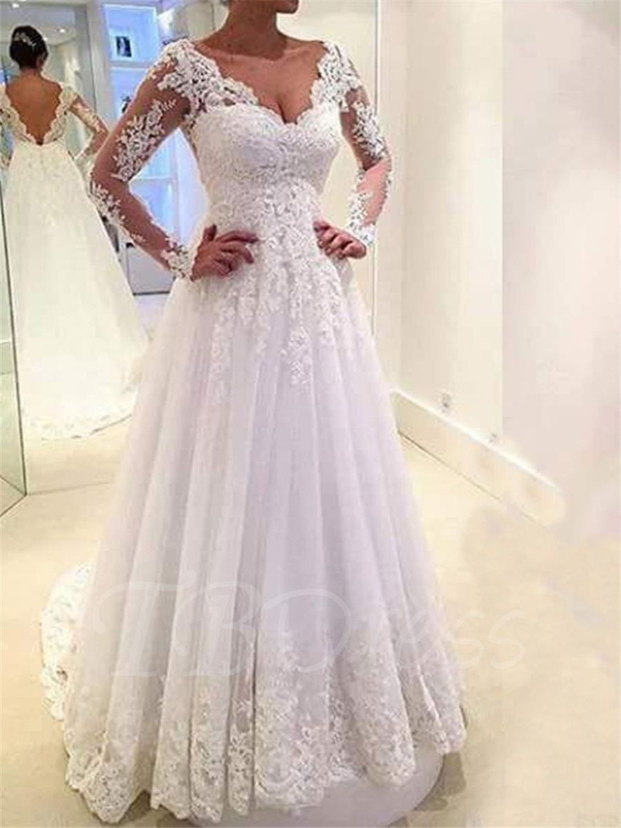 0a803bda0f8 2019 Lace Long Sleeve Wedding Dresses - Dresses for Wedding Reception Check  more at http