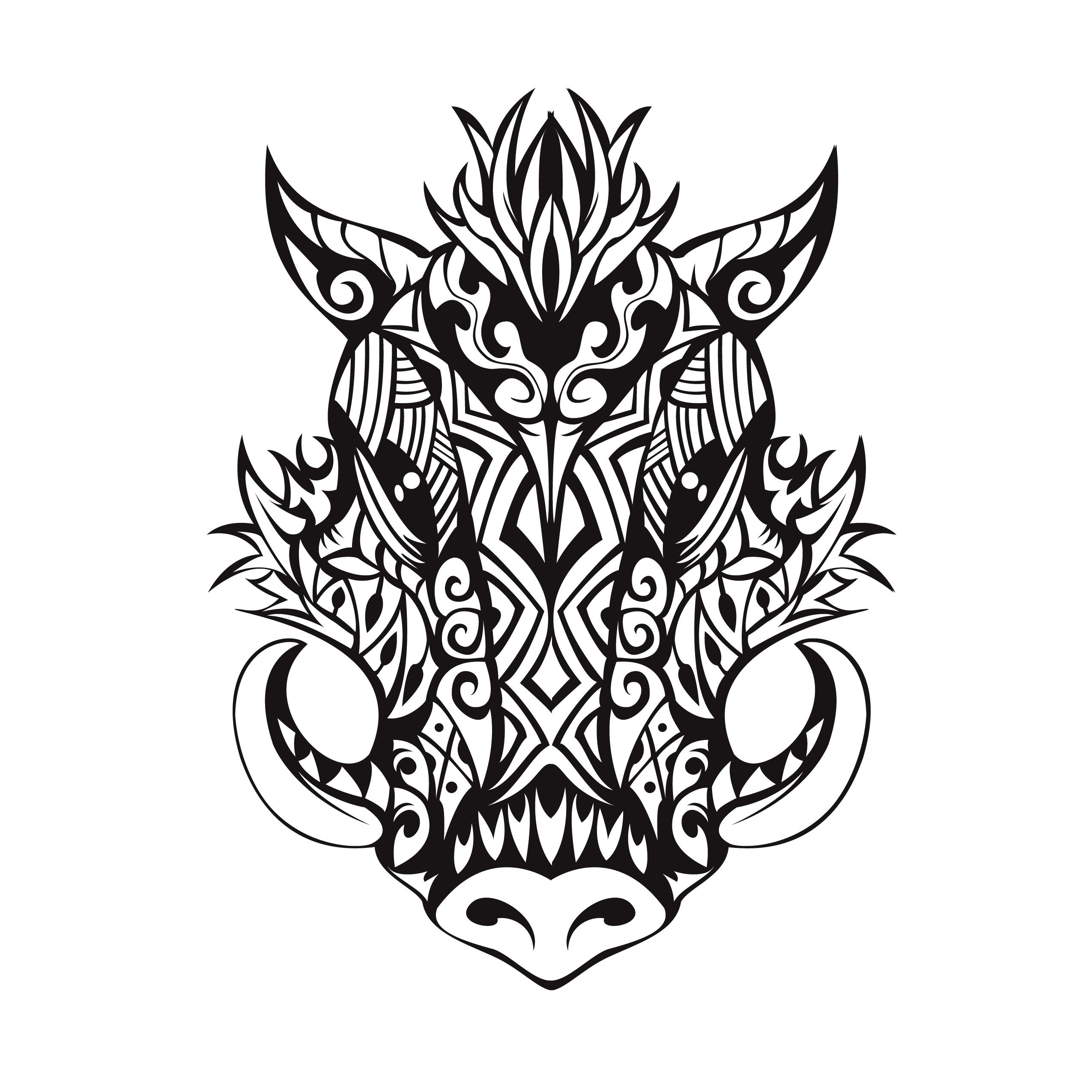 tribal boar tattoo tattoo design pinterest tattoo tatting and rh pinterest com Wild Boar Tattoos for Men boat tattoo designs