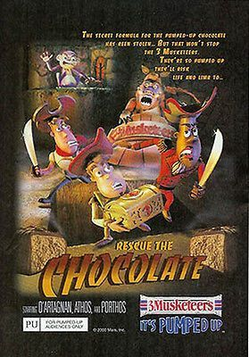 Chocolate Rescue 3 Musketeers 2000 LOL Mars Candy Ad