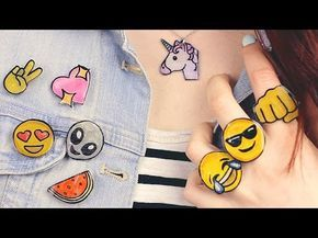 DIY Emoji Accessories Necklace, Pins, Brooches, Rings