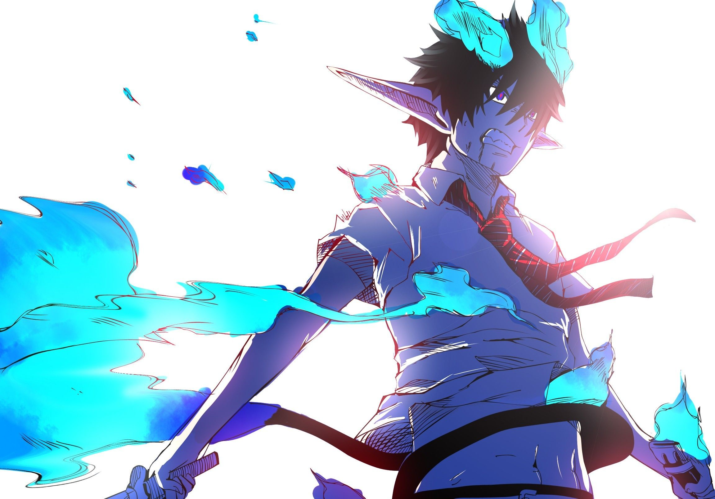 Blue Exorcist Rin Demon Form Wallpaper Picture Blue Exorcist Rin Blue Exorcist Anime Blue Exorcist Download wallpaper anime ao no
