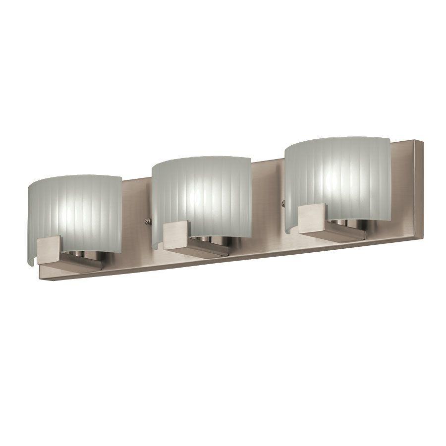 Portfolio 3 Light Brushed Nickel Rectangle Vanity Light Bar At