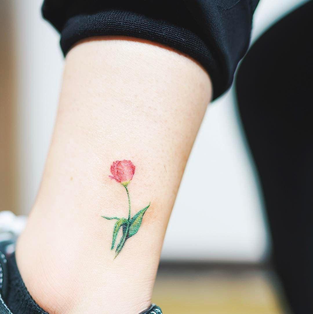 Small color tattoo ideas little flower   tattoo tattooist flowertattoo colortattoo