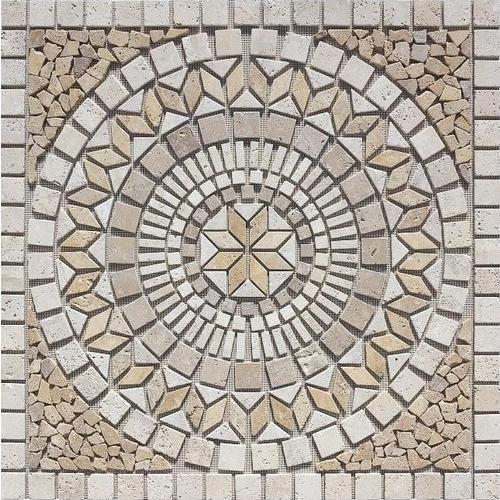 Stone Mosaic Travertine Floor Tile
