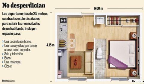 Vivir en 25 metros en el df es posible ciudadanos en for Vivir en 25 metros cuadrados