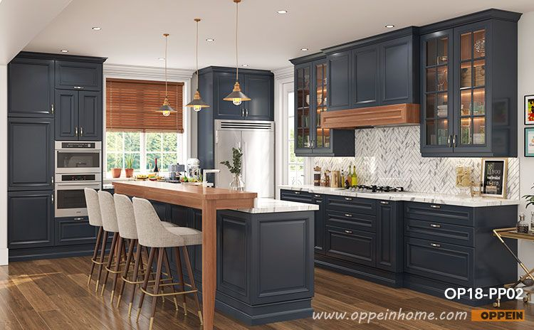 traditional style navy blue kitchen cabinet with island op18 pp02 navy blue kitchen cabinets on kitchen cabinets blue id=44604