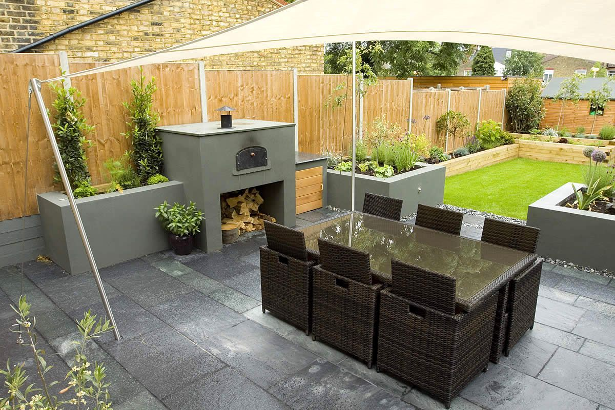 Garden design ideas rectangular garden outdoor magnificent for Narrow rectangular kitchen design