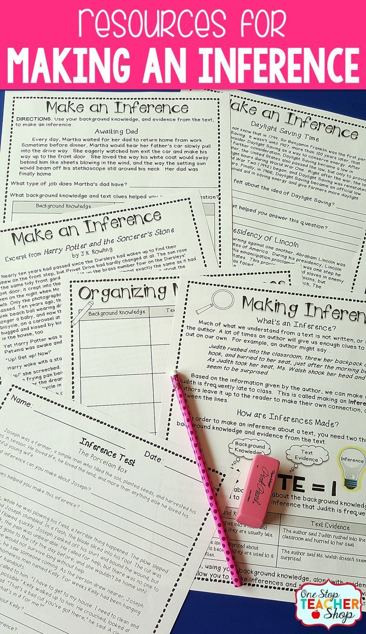 Making Inferences Inference Activities Reading Comprehension Strategies Inferring Lessons