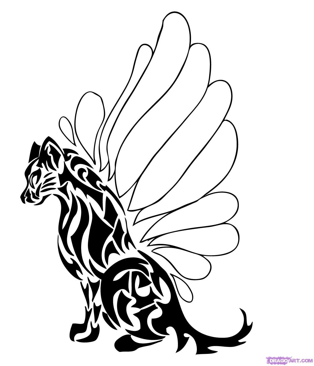 Easy Tribal Animal Tattoos