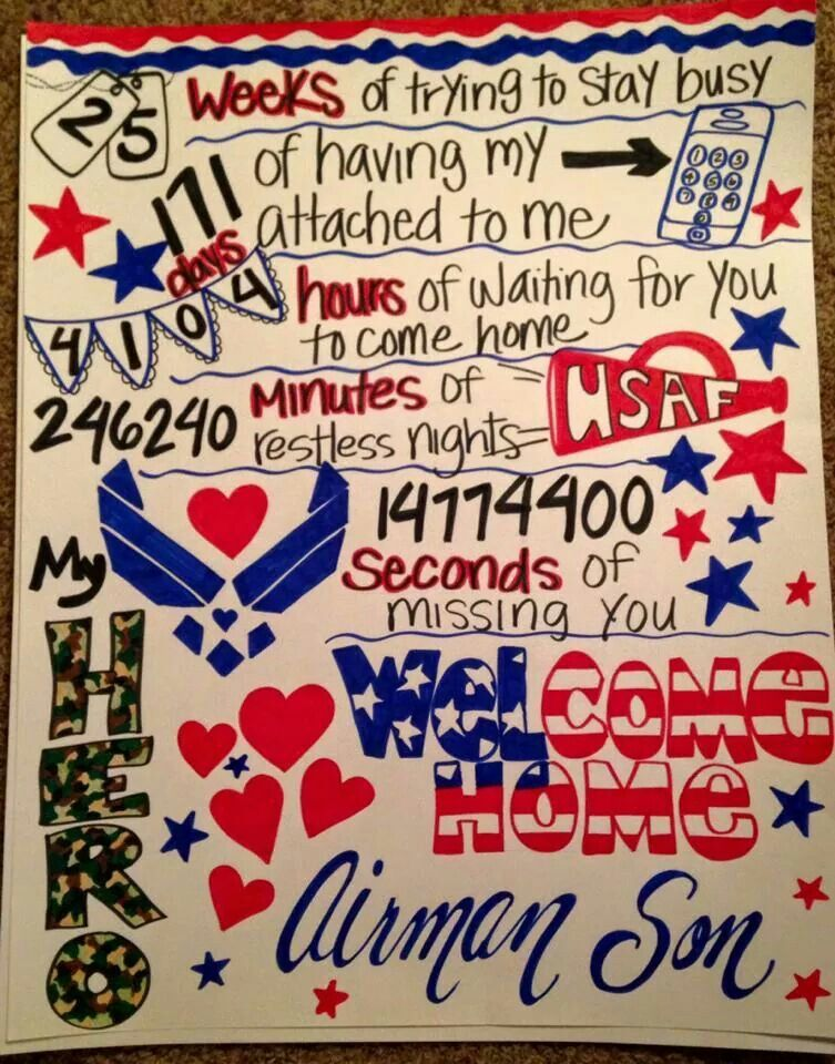 welcome home poster idea usaf pinterest poster ideas and