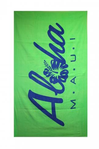 Maui Aloha Hibiscus Beach Towel In Green Https Www Sofhawaii