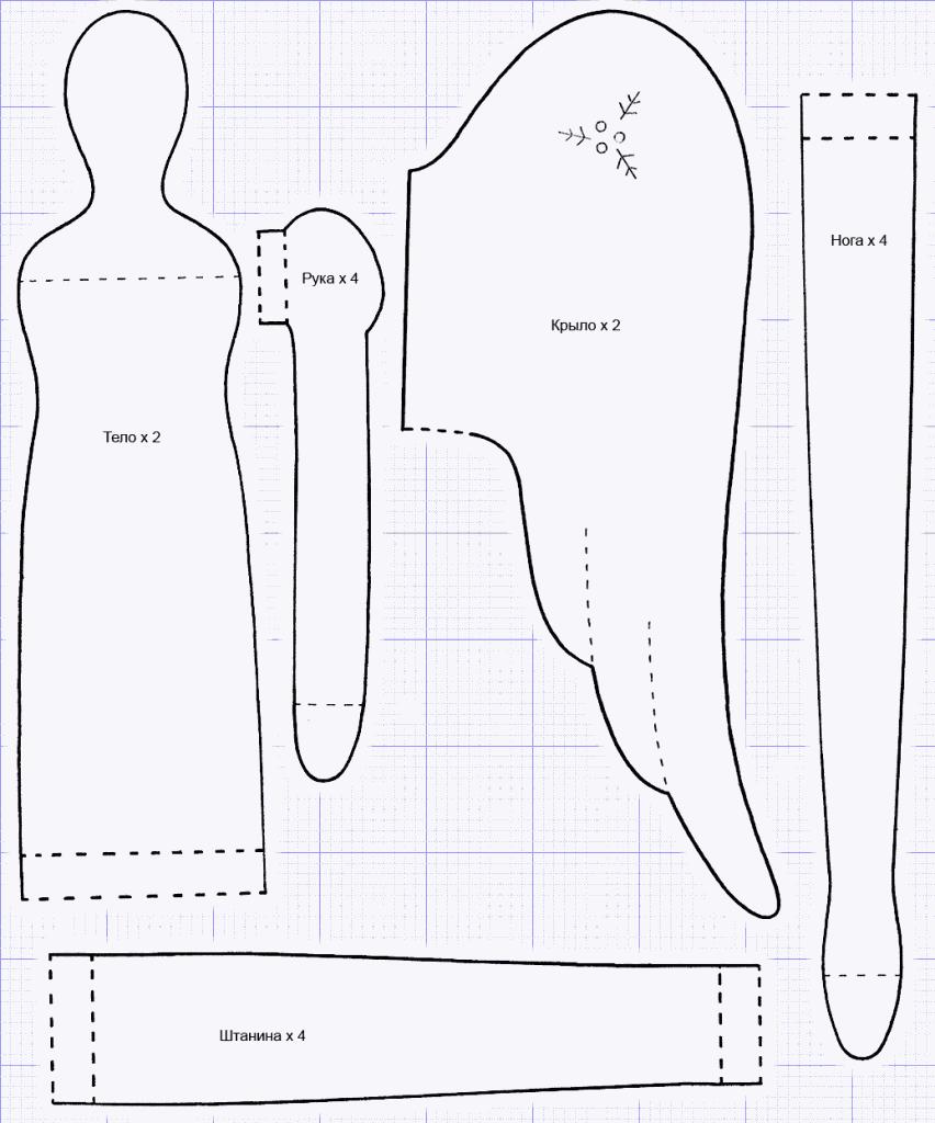 Куклы тильда выкройки штанишек