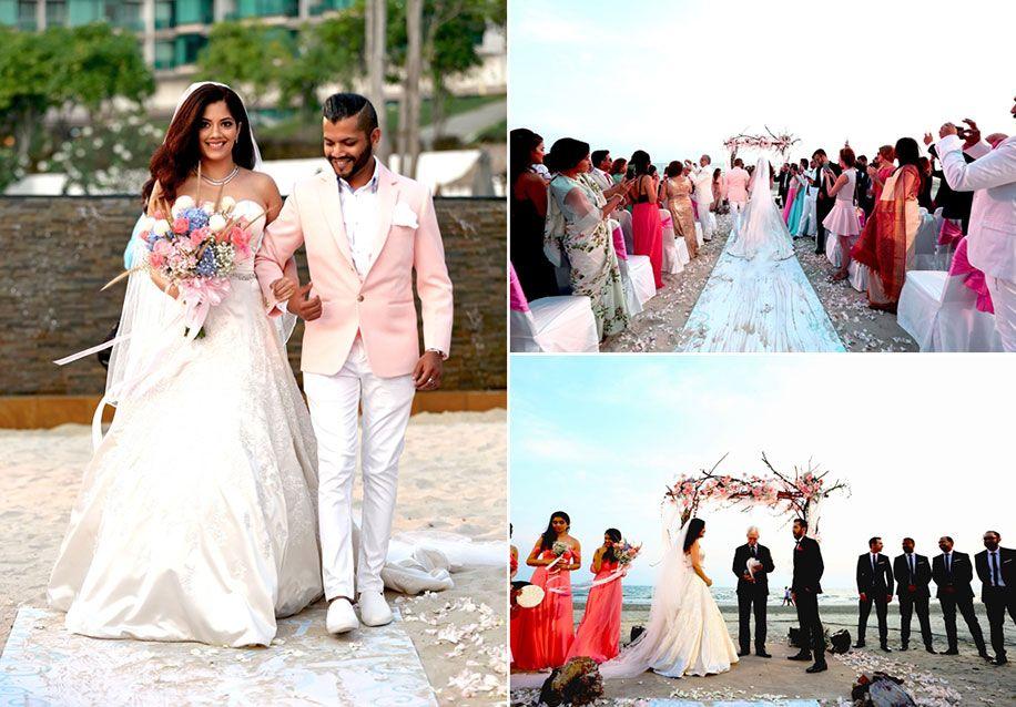 Eisha And Sanjay Rayong Marriott Resort Spa Thailand Wedding Weddingsutra Beautiful Beach Wedding Wedding Photo Albums Beach Wedding