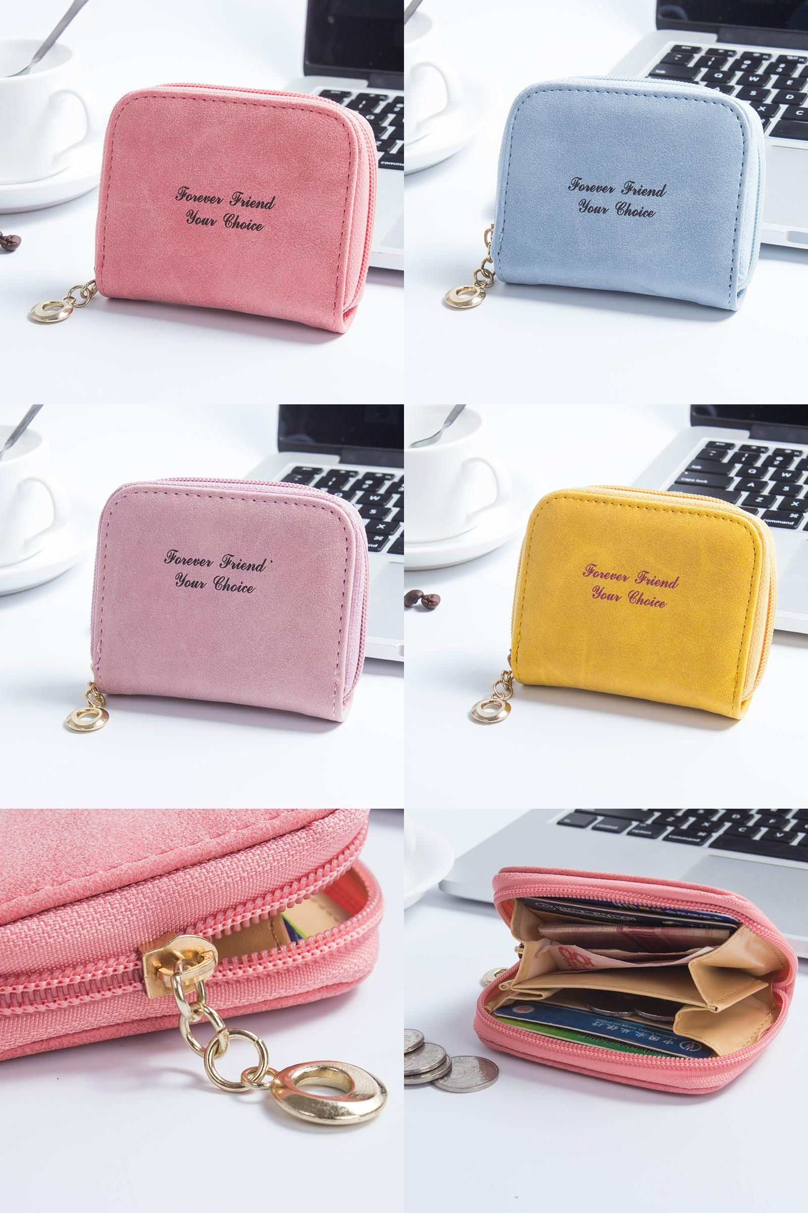Women Men 3D Plush Mini Coin Change Purse Wallet Clutch Small Soft Bag With Hook