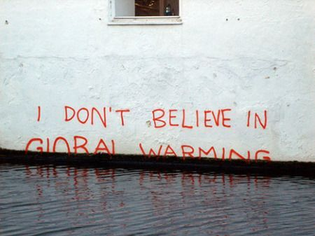 Wait, Banksy Doesn't Believe In Global Warming? #banksyart