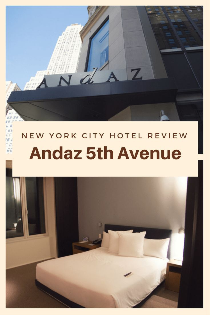 Andaz fifth avenue new york city hotel review city