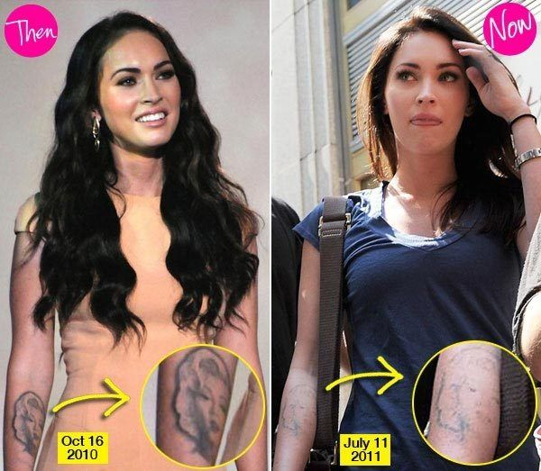 Megan Fox Bye Bye Marilyn Monroe Tattoos Picture Laser Removal Tattoo Megan Fox Fox